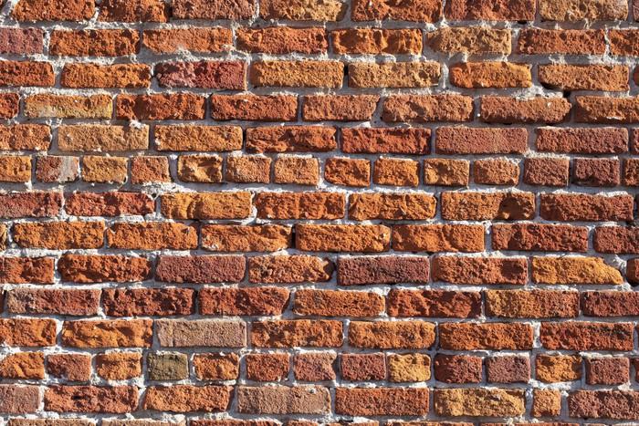 Carta da parati muro di mattoni rossi pixers viviamo for Carta da parati muro di mattoni