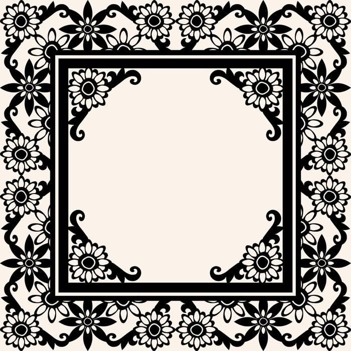 Vinilo Pixerstick Diseño de marco barroco adornado, vector de imagen ...