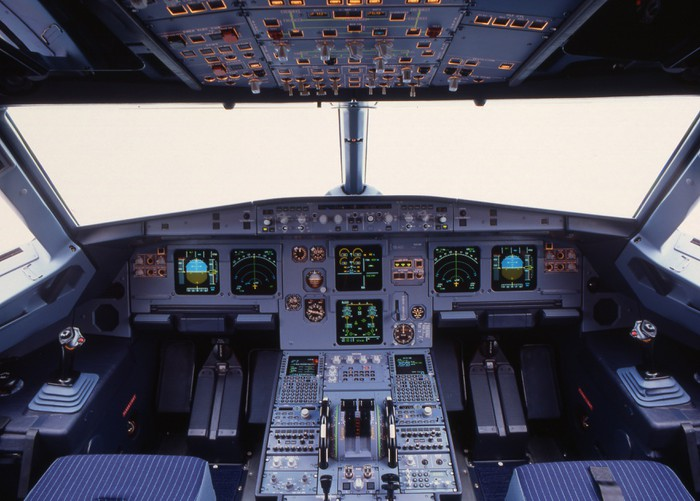 A319 Cockpit Wall Mural Pixers 174 We Live To Change