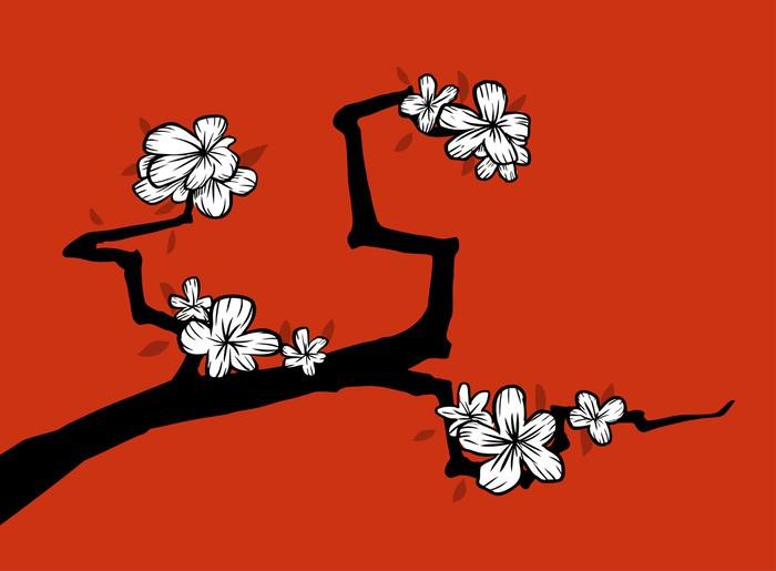 Vinylová Tapeta Sakura - Rostliny