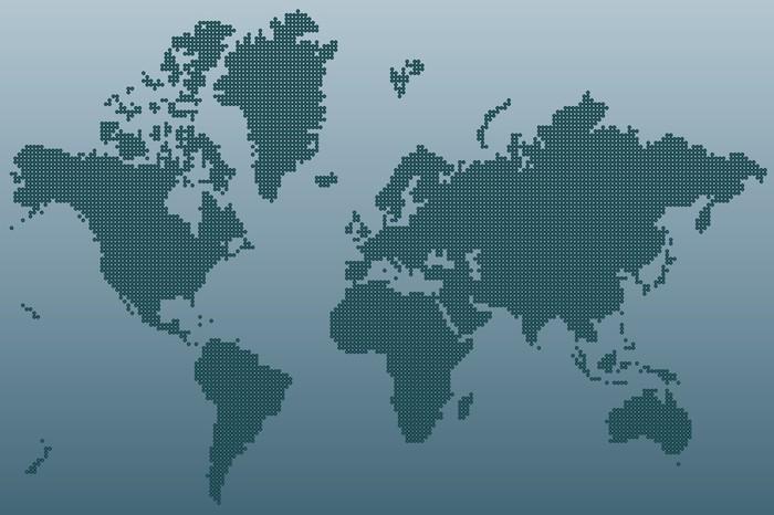 Vinylová fototapeta Map world - Vinylová fototapeta