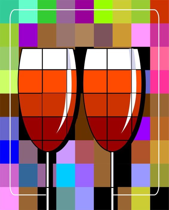 Vinylová fototapeta Ilustrace poháry nápojů - Vinylová fototapeta