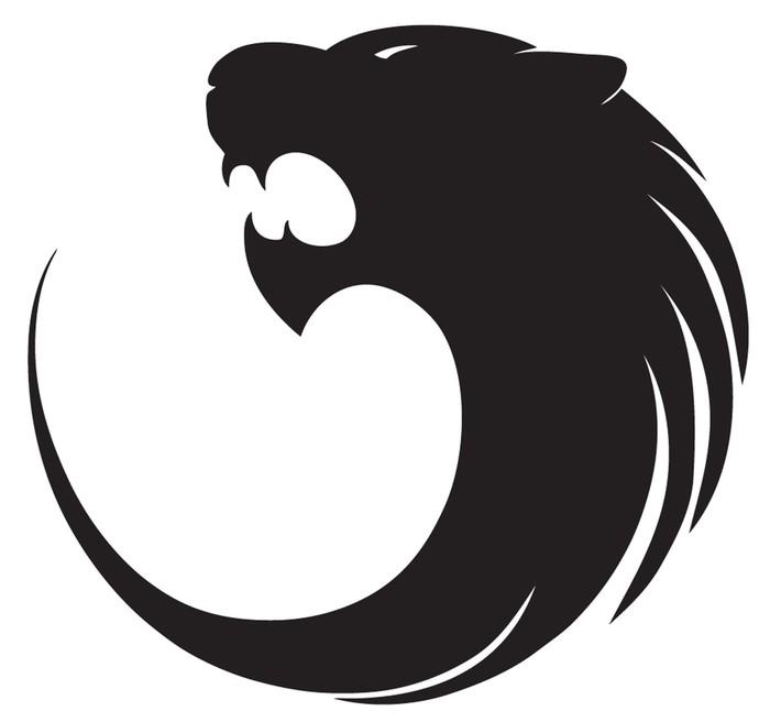 fototapete tiger silhouette logo pixers wir leben um zu ver ndern. Black Bedroom Furniture Sets. Home Design Ideas