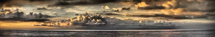 Vinylová Tapeta Západ slunce - Panoramatický - Nebe