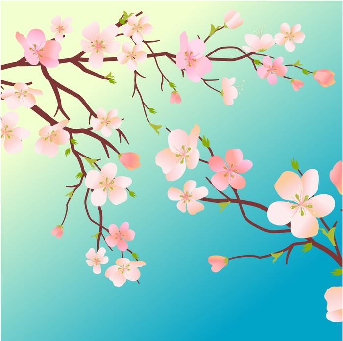 tableau sur toile blossoming arbre pixers nous vivons pour changer. Black Bedroom Furniture Sets. Home Design Ideas