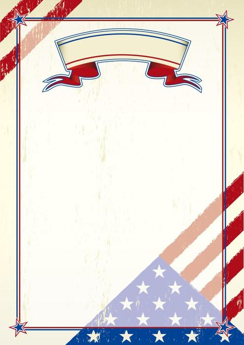 Vinylová Tapeta Americký poškrábaný písmeno - Amerika