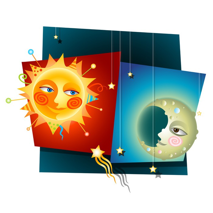 vinyl wall mural whimsical sun and moon pixersize com