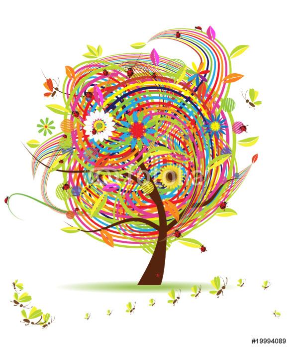 Vinylová Tapeta Legrační na jaře strom pro svůj design - Roční období