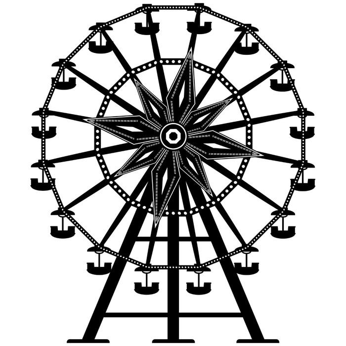 Vinilo Pixerstick Parque de atracciones paseo rueda de la fortuna en ...