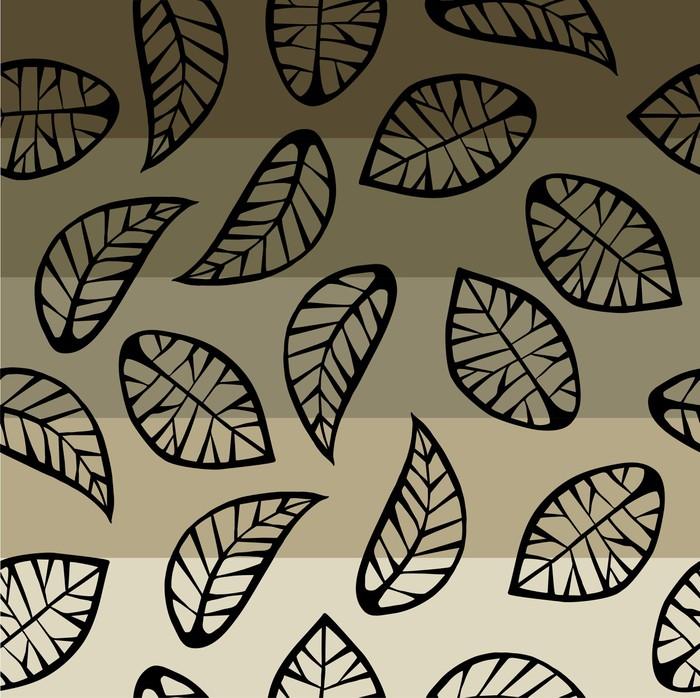 tableau sur toile feuilles sur fond degrad pixers nous vivons pour changer. Black Bedroom Furniture Sets. Home Design Ideas