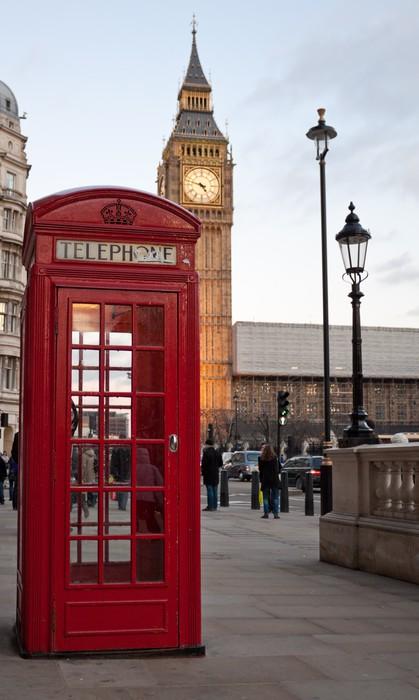 Carta da parati una cabina telefonica tipica rosso a for Cabina nel wyoming