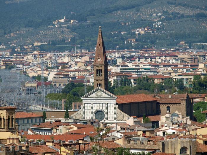 Vinylová Tapeta Florence -The Santa Maria Novella je patrné z zahrady Boboli - Evropa