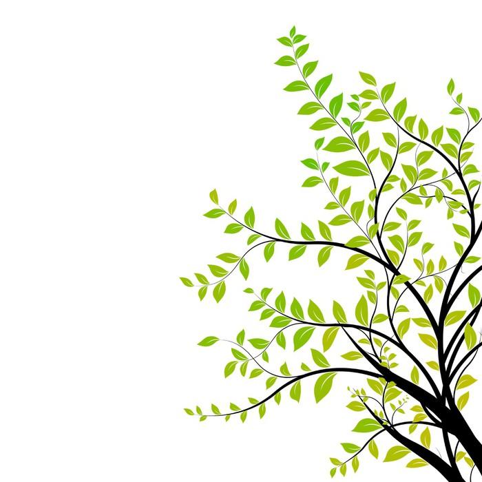 sticker vecteur branche d 39 arbre vert et naturel l ment de design floral pixers nous. Black Bedroom Furniture Sets. Home Design Ideas