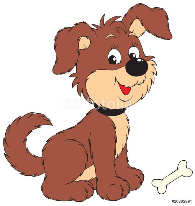 Nálepka Pixerstick Pes s kostí - Savci