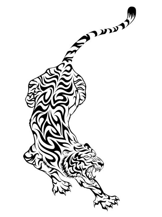 Vinylová Tapeta Tiger Tattoo 3 - Savci