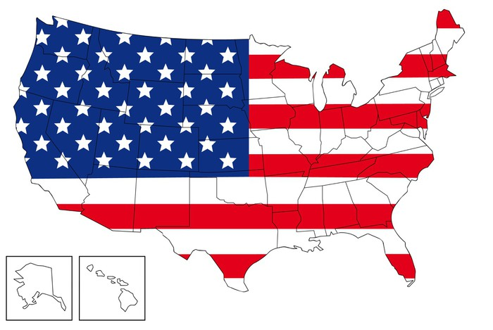 USA map Wall Mural • Pixers® • We live to change