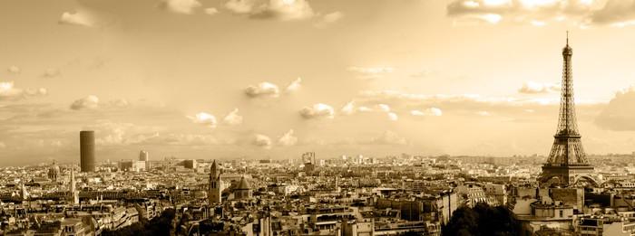 Leinwandbild Die Dächer von Paris - iStaging