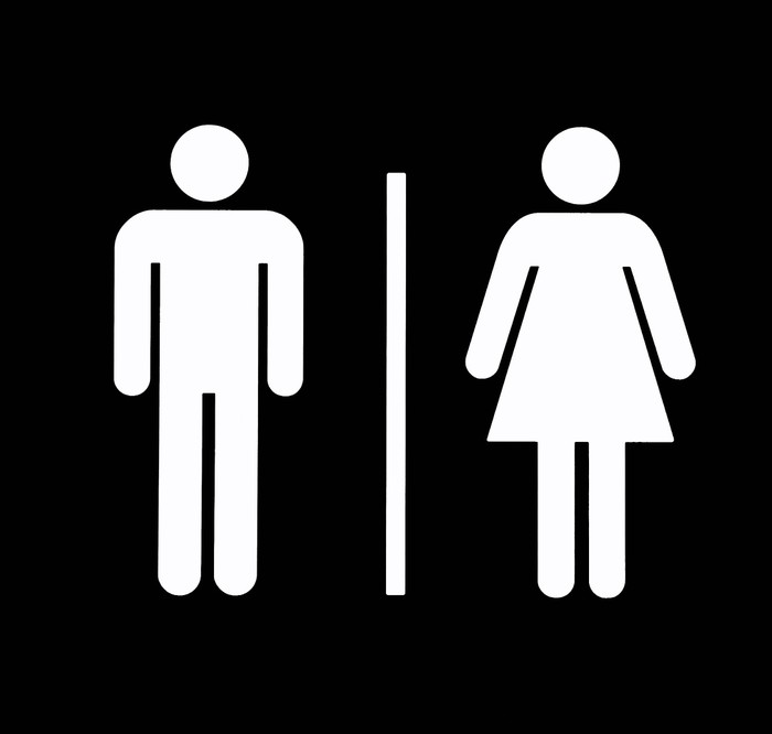 unisex bathroom symbol Wall Mural • Pixers® • We live to change