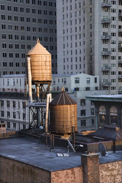 Vinylová Tapeta Rooftop Vodní věže na NYC budov - Amerika