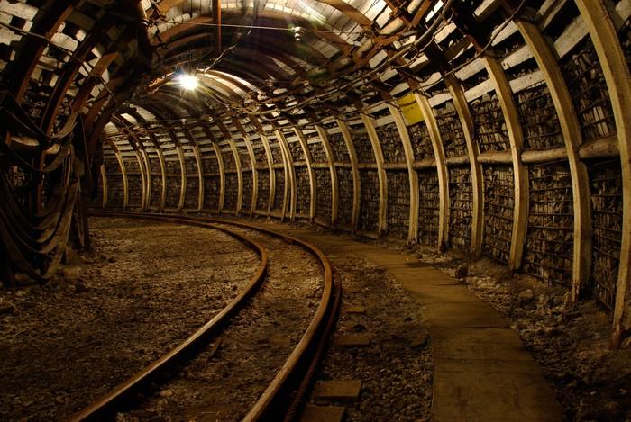 Wall Mural - Vinyl Mine underground corridor - Themes