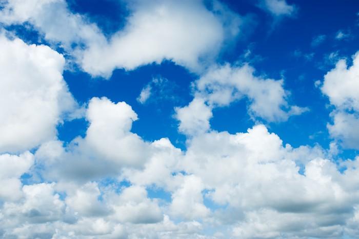 sticker ciel bleu avec des nuages blancs moelleux pixers nous vivons pour changer. Black Bedroom Furniture Sets. Home Design Ideas