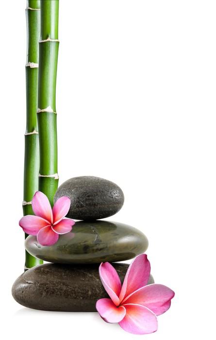 sticker fleurs de frangipanier galets zen et bambou pixers nous vivons pour changer. Black Bedroom Furniture Sets. Home Design Ideas