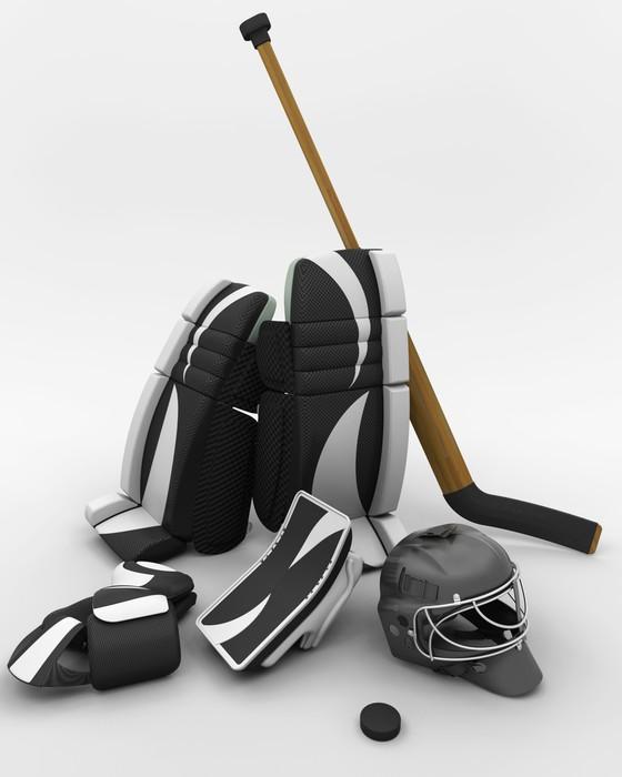 Vinylová Tapeta Lední hokej brankářská výstroj - Sportovní potřeby