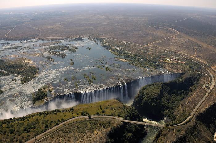 Vinylová Tapeta Victoria Falls pohled z nebe - Afrika