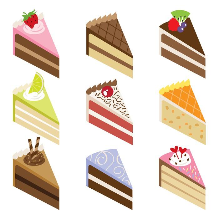 Vinylová Tapeta Delicious Cake řezy - Do předsíně