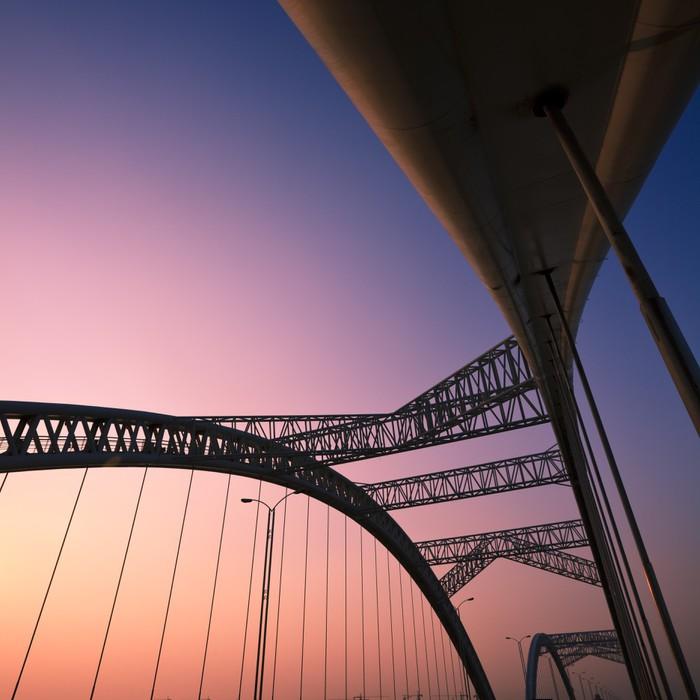 Vinyl-Fototapete Brücke - Straßenverkehr