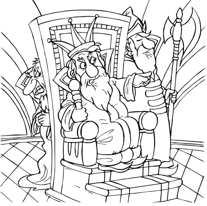 Vinylová Tapeta Král seděl ve svém trůnu obklopen dvořany - Děti