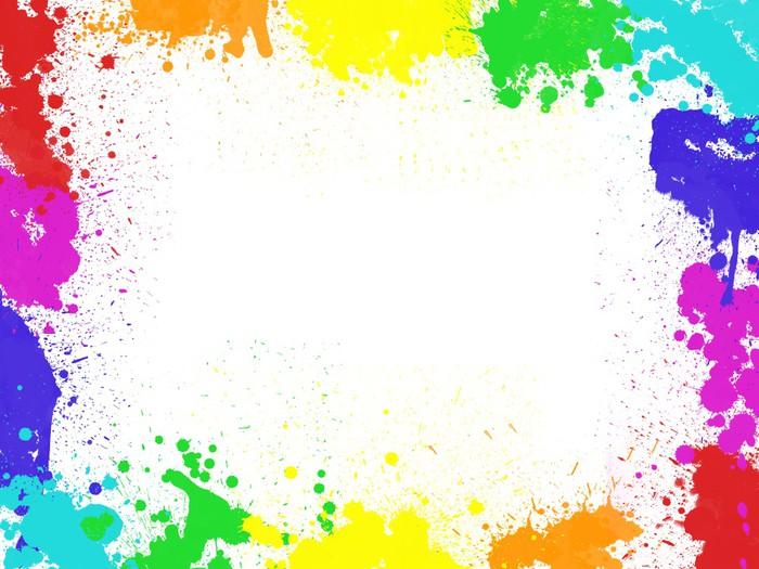 fotomural marco manchas de pintura pixers vivimos