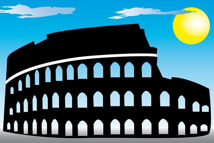 Vinylová Tapeta Řím Coliseum - Evropská města