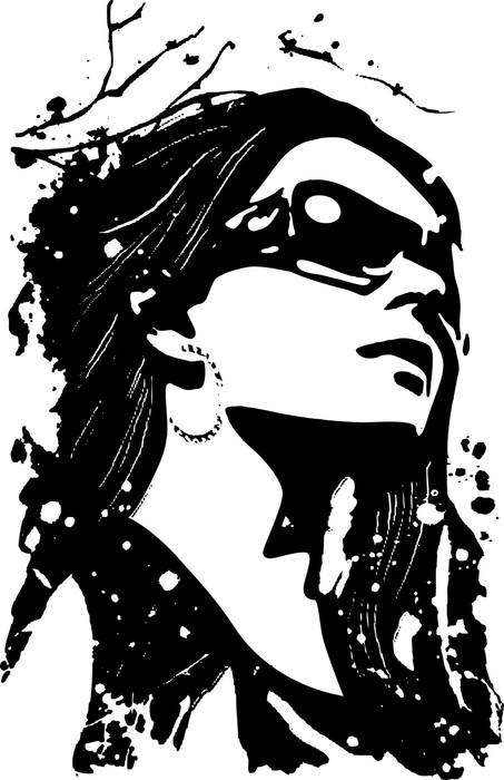 Vinylová Tapeta Ozdobný žena ilustrace - Témata
