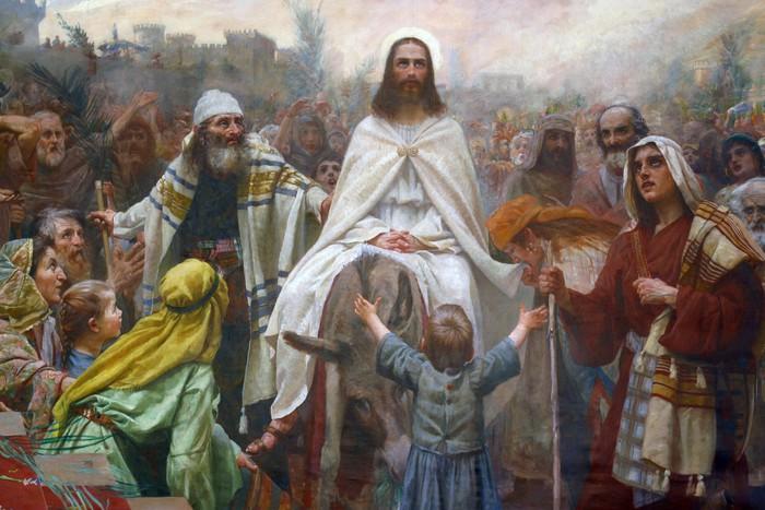 Jezus w Niedzielę Palmową