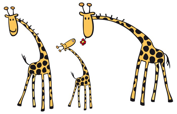 Vinylová Tapeta Žirafy - Savci