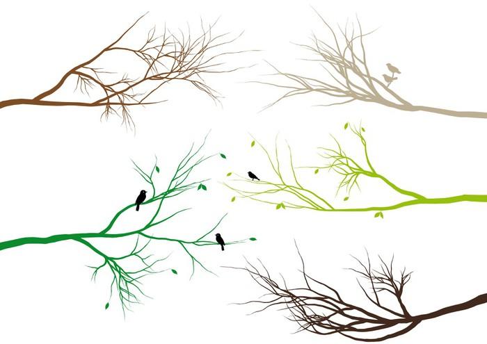 Vinilo Pixerstick Ramas de los árboles, vector • Pixers® - Vivimos ...