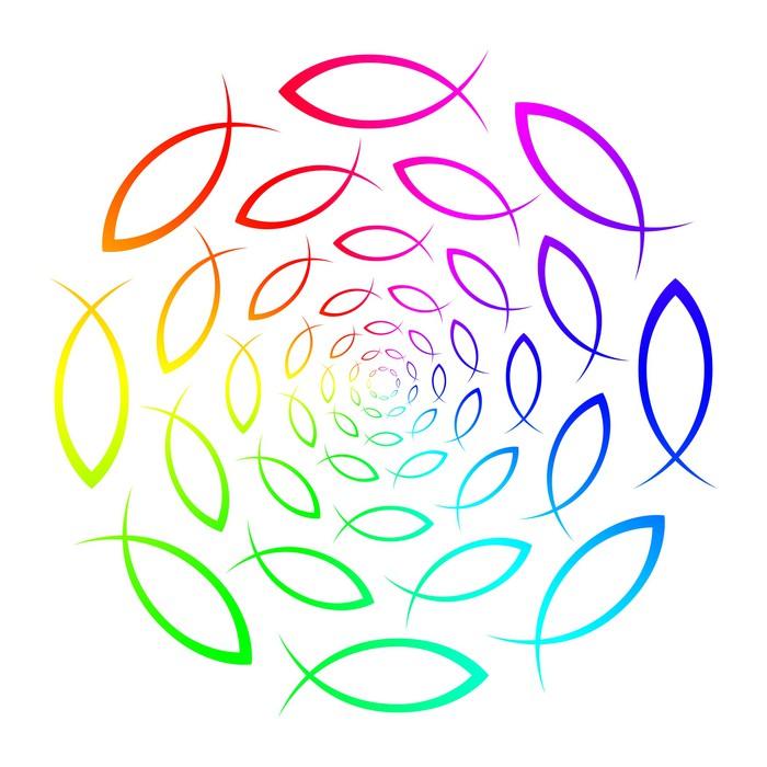 Regenbogen Ichthys Mandala Canvas Print Pixers 174 We