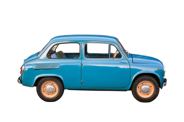Tiny Soviet car with clipping path Vinyl Wall Mural - On the Road