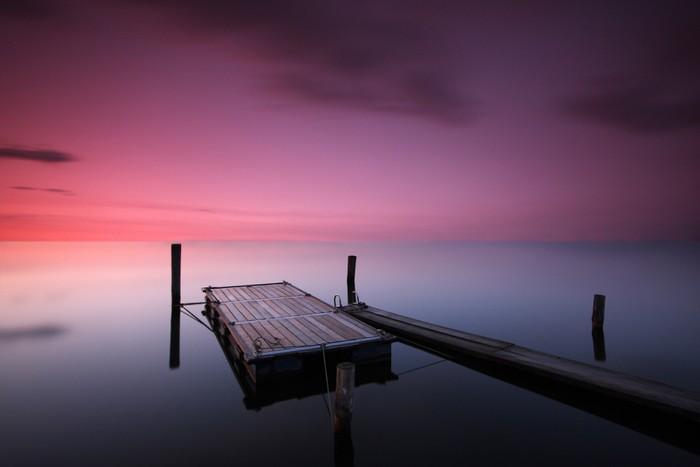 Vinylová Tapeta Západ slunce na jezeře - Voda