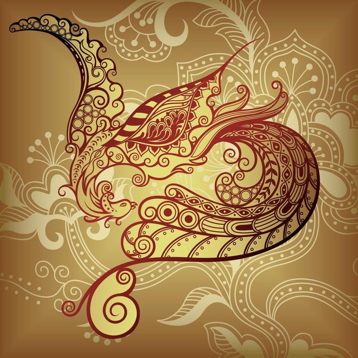 Fototapete asia vogel phoenix pixers wir leben um zu - Fototapete asia ...