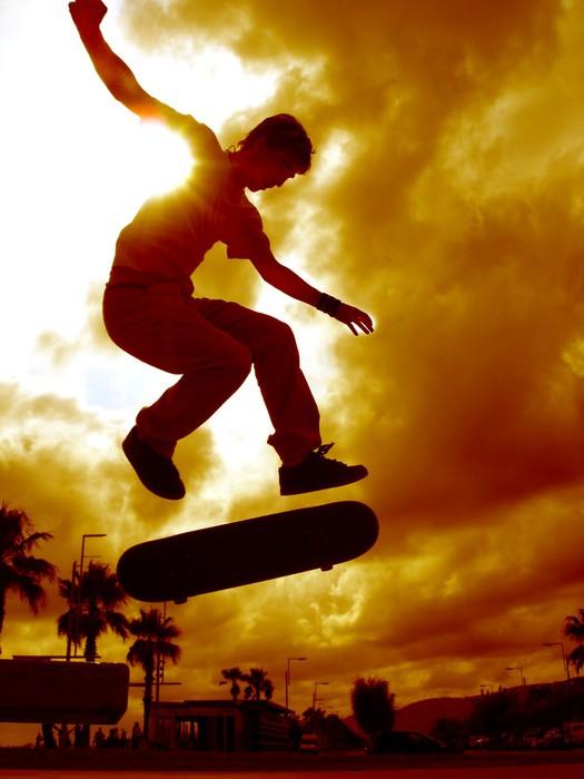 Vinylová Tapeta Bruslař espagnole - Skateboard