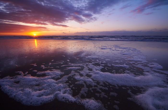 Nálepka Pixerstick Západ slunce na pláži - Voda