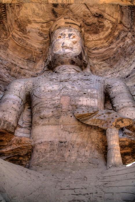 Vinylová Tapeta Buddha Kamenořezba z Yungang jeskyně - Asie
