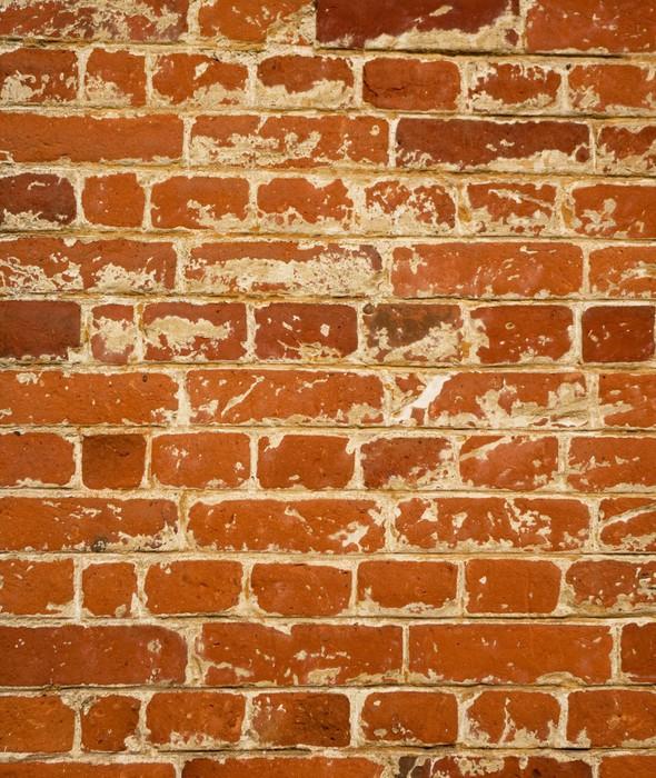 papier peint vieux mur de brique rouge pixers nous vivons pour changer. Black Bedroom Furniture Sets. Home Design Ideas