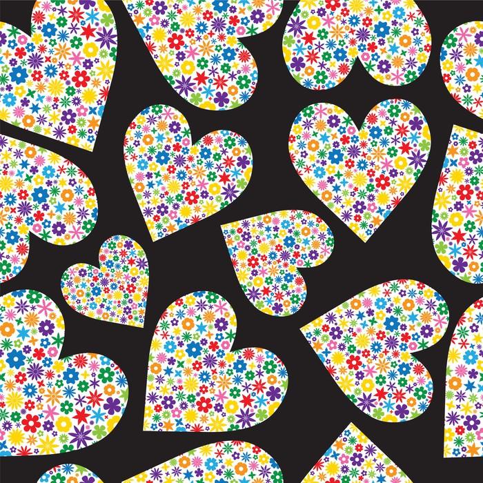 Carta da parati mattonelle senza giunte dei cuori pieni di for Mattonelle in vinile