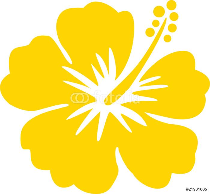 Hawaiiblume gelb Sticker - Pixerstick - Flowers
