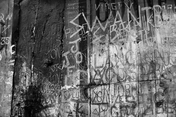 black and white graffito Wall Mural - Vinyl - Styles