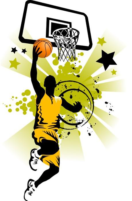 fototapete basketball spieler in gelb pixers wir leben um zu ver ndern. Black Bedroom Furniture Sets. Home Design Ideas