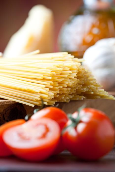 Vinylová Tapeta Špagety a rajčata zblízka - Témata